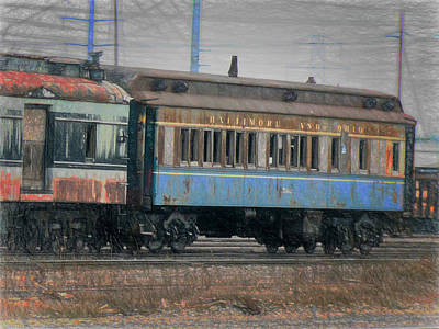 Digital Art - Faded Glory - B And O Railroad Car by Leslie Montgomery