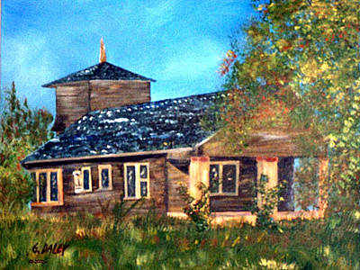 Haunted House Painting - Faded Glory by Gail Daley