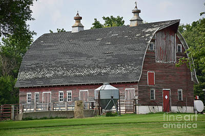 Photograph - Faded Red Barn by Kathy M Krause
