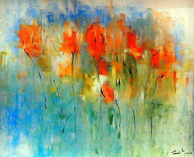 Painting - Faded Warm Autumn Wind by Lisa Kaiser