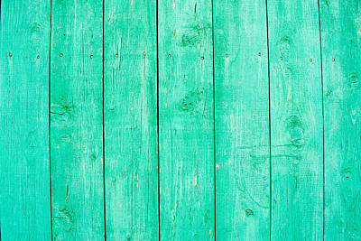 Art Print featuring the photograph Fading Aqua Paint On Wood by John Williams