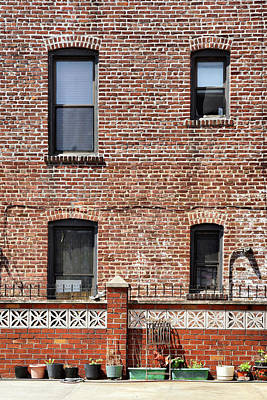 Photograph - Fading Brick Facade by Cate Franklyn