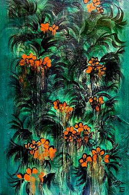 Fading Flowers Original by Erica Seckinger