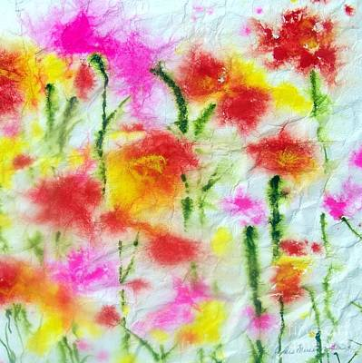 Painting - Fading Flowers by Jackie Mueller-Jones