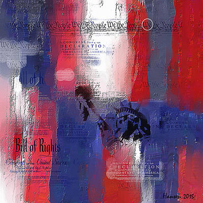 July 4th Painting - Fading Freedom by Phil Hansen