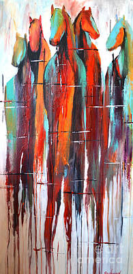 Wild Horse Painting - Fading Glory by Cher Devereaux
