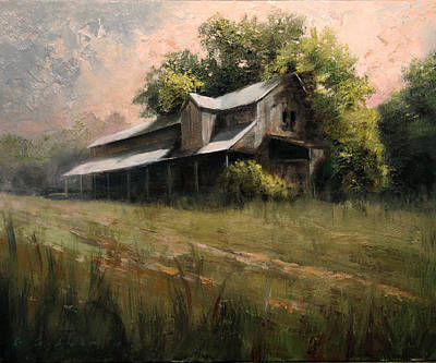 Cotton Gin Painting - Fading Glory by Gary Gibson