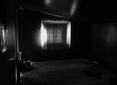 Photograph - Fading Light Within A Fading Bedroom by Brian Sereda