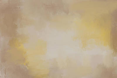 Simple Abstract Art Painting - Fading Magnolia Autumn Abstract Painting by Jai Johnson