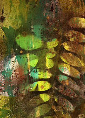 Nature Abstract Painting - Fading Memories by Wayne Potrafka