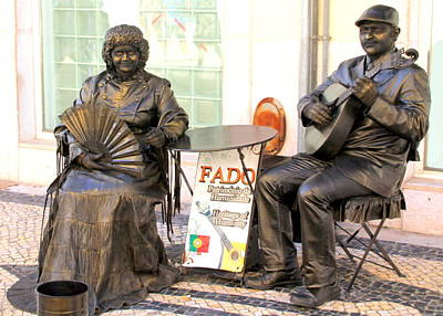 Photograph - Fado Mimes In Lisbon by Laurel Talabere