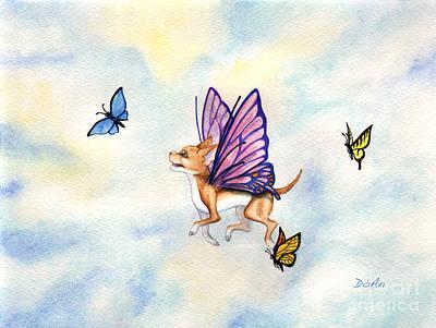 Painting - Faerie Dog Flies by Antony Galbraith