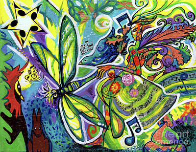 Painting - Faerie Lyric And Her Magical Kingdom by Genevieve Esson