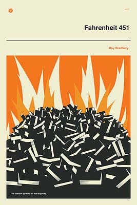 Science Fiction Digital Art - Fahrenheit 451 by Jazzberry Blue