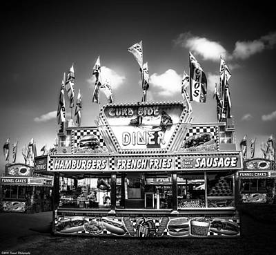 Photograph - Fair Food Bw  by Debra Forand