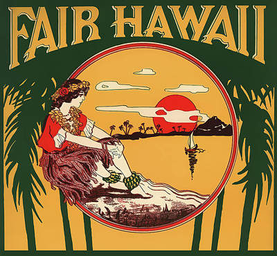Photograph - Fair Hawaii Music Cover 1913 by Daniel Hagerman