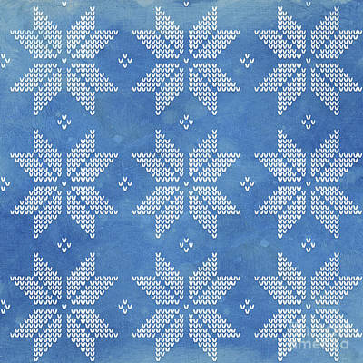 Painting - Fair Isle Pattern Snowflakes by Audrey Jeanne Roberts