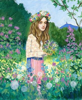 Waif Painting - Fair Maid Of Glastonbury by Ce Jamieson