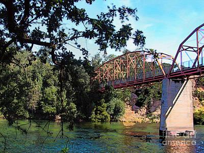 Fair Oaks Bridge Art Print by Anthony Forster