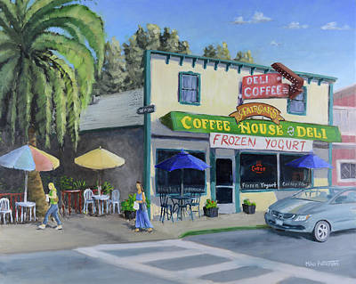 Painting - Fair Oaks Coffee House And Deli by Mike Patterson