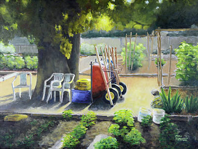 Painting - Fair Oaks Community Garden by Mike Patterson