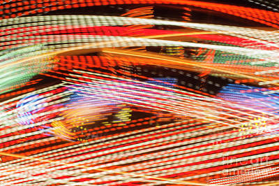 Photograph - Fair Ride Abstract by Jim Corwin