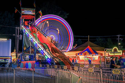Photograph - Fair Rides At Night by Dan Sproul