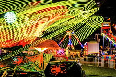 Photograph - Fair Rides Long Exposure by Dan Sproul