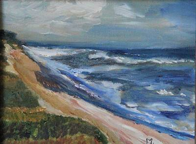 Painting - Fair Weather At National Seashore by Michael Helfen