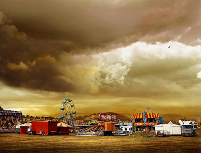 Roller Coaster Photograph - Fair Weather by Mal Bray