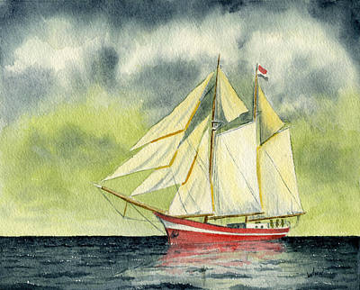 Painting - Fair Winds And Following Seas by Brett Winn