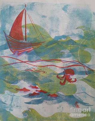 Painting - Fair Winds Calm Seas by Cynthia Lagoudakis