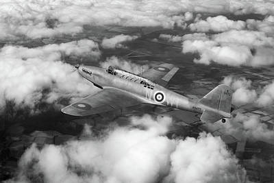 Photograph - Fairey Battle In Flight Bw Version by Gary Eason