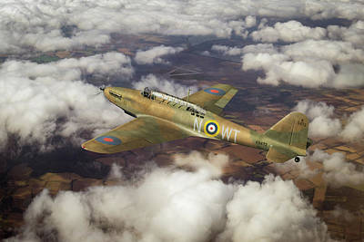 Photograph - Fairey Battle In Flight by Gary Eason