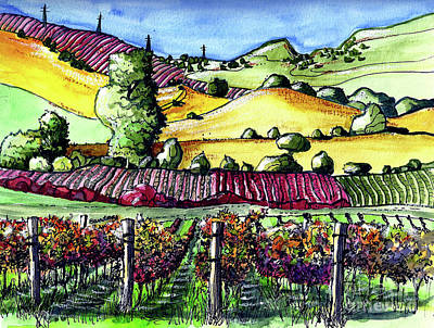 Painting - Fairfield Vineyards by Terry Banderas