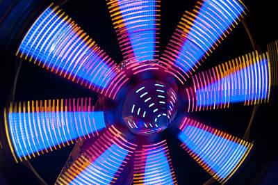 Photograph - Fairground Abstract IIi by Helen Northcott