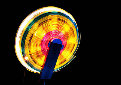 Photograph - Fairground Abstract Iv by Helen Northcott