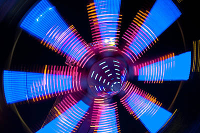 Photograph - Fairground Abstract V by Helen Northcott