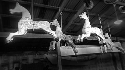 Photograph - Fairground Horses by Nareeta Martin