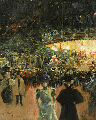 Painting - Fairground. Place Pigalle by Louis Abel-Truchet