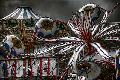 Photograph - Fairground Rides by Wayne Sherriff