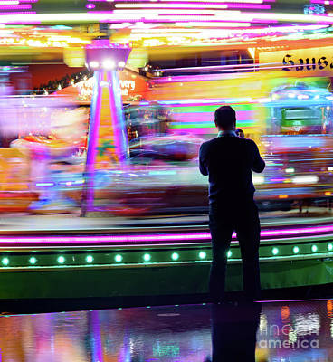 Photograph - Fairground Speed by Colin Rayner