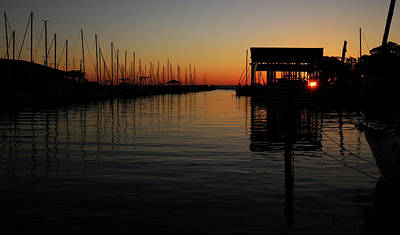 Photograph - Fairhope Alabama Sunset by Judy Vincent