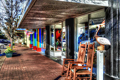 Photograph - Fairhope Cadeaux Sidewalk  by Michael Thomas