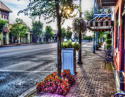 Photograph - Fairhope City Street by Michael Thomas