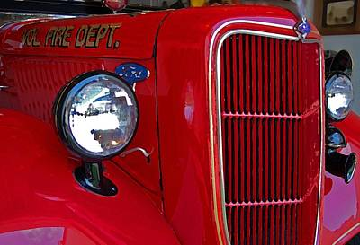 Fairhope Fire Truck Original by Michael Thomas