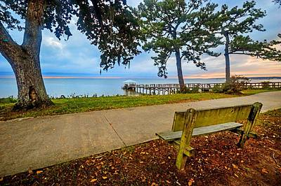Photograph - Fairhope Morning At The Orange Street Pier On Mobile Bay by Michael Thomas