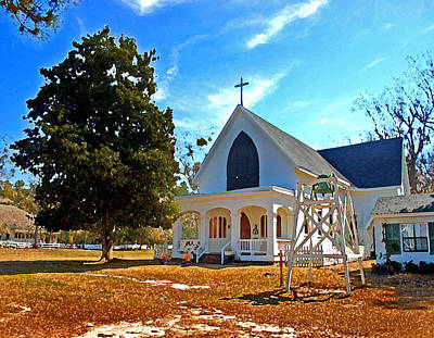 Painting - Fairhope Sacred Heart Church by Michael Thomas