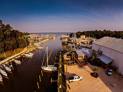 Photograph - Fairhope Yacht Club Harbor by Michael Thomas