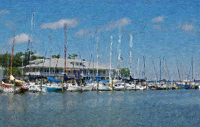 Fairhope Yacht Club Impression Art Print